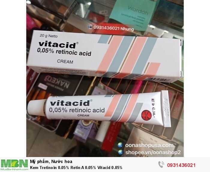 Kem Tretinoin 0.05% Retin A 0.05% Vitacid 0.05%2