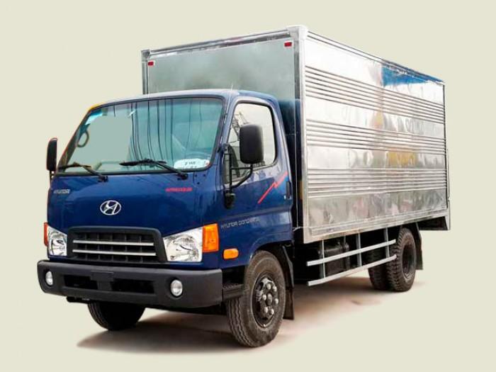 Xe tải Hyundai 6T8 thùng kín Mighty HD700, thùng 4m9, hỗ trợ vay đến 80%