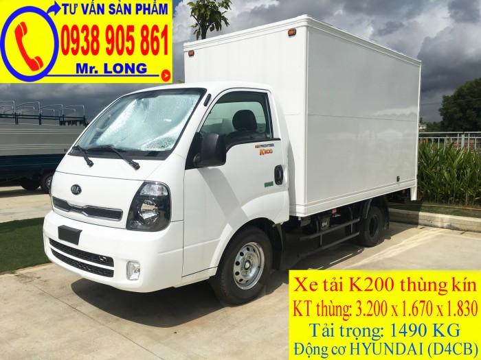 Xe tải Frontier KIA K200 tải trọng 1 tấn 4 hỗ trợ trả góp tại Đà Nẵng