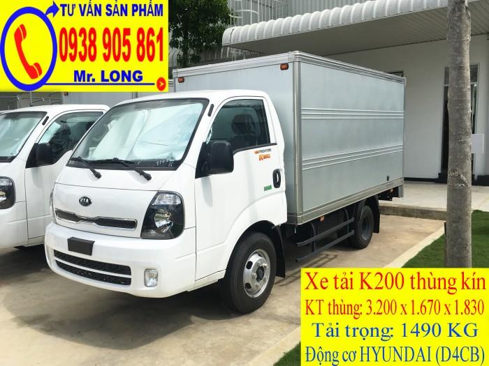 Xe tải Frontier KIA K200 tải trọng 1 tấn 4 hỗ trợ trả góp tại Đà Nẵng 0