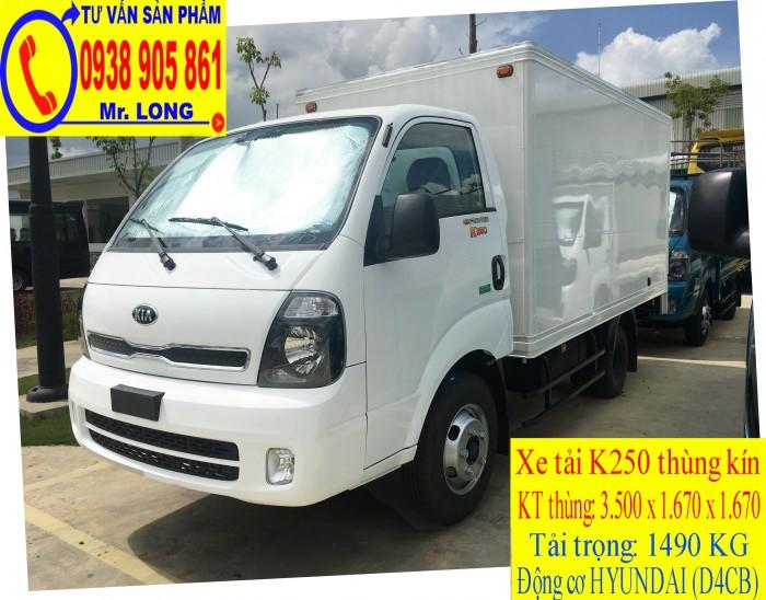 Xe tải Frontier KIA K250 tải trọng 1 tấn 4 hỗ trợ trả góp tại Đà Nẵng