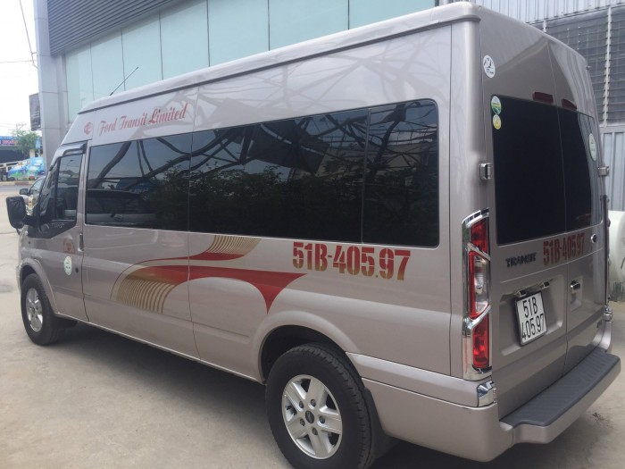 Bán Ford Transit sx 2018 màu ghi vàng full option 9