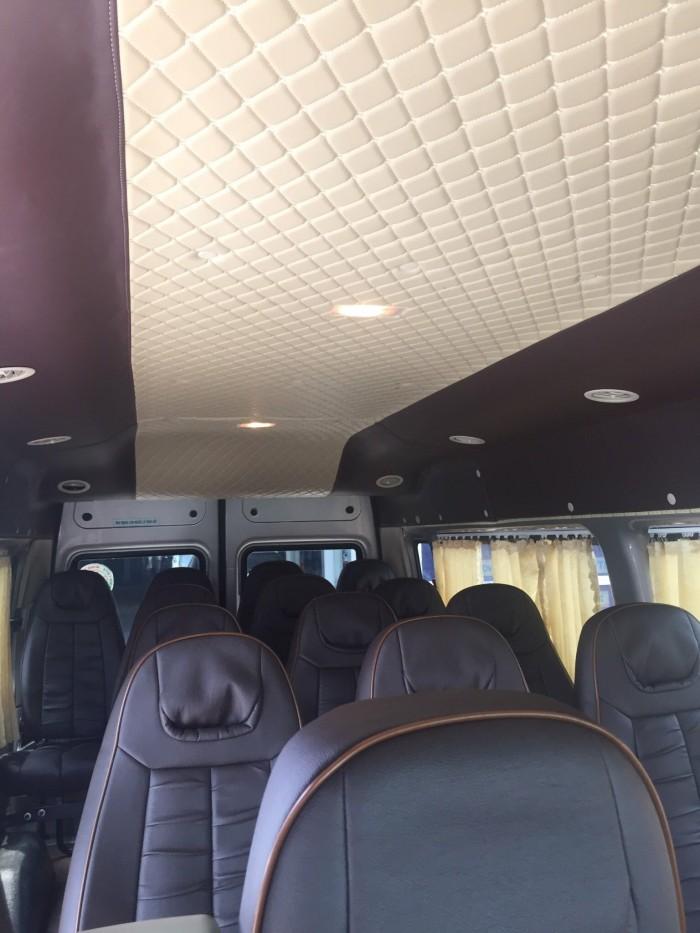 Bán Ford Transit sx 2018 màu ghi vàng full option 3