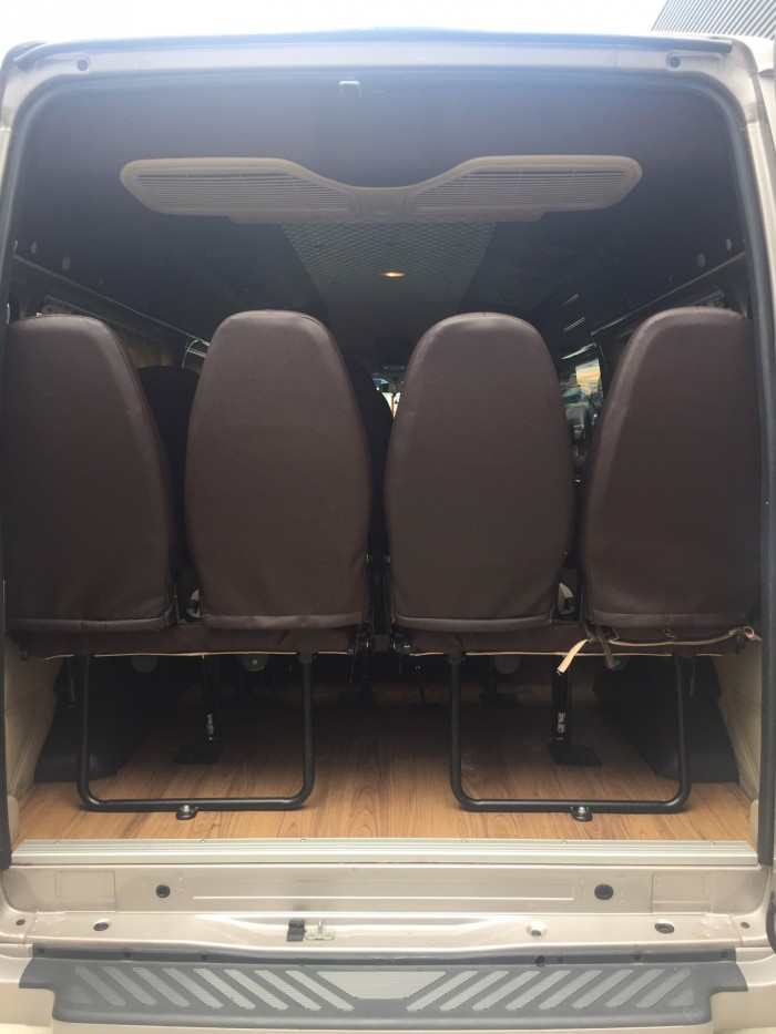 Bán Ford Transit sx 2018 màu ghi vàng full option