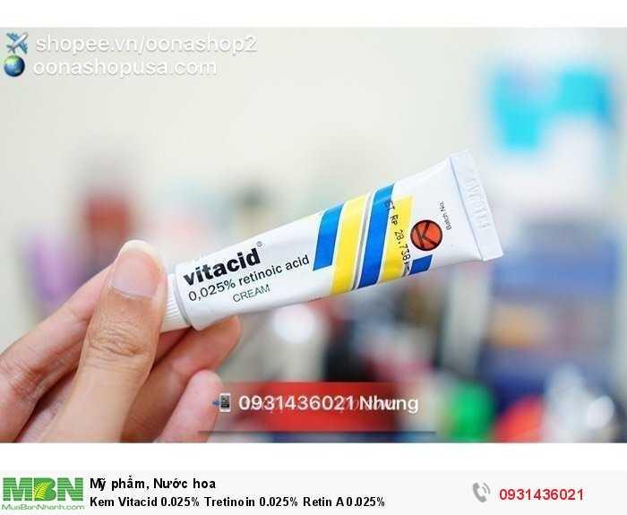 Kem Vitacid 0.025% Tretinoin 0.025% Retin A 0.025%1