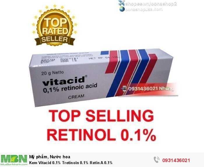 Kem Vitacid 0.1% Tretinoin 0.1% Retin A 0.1%0
