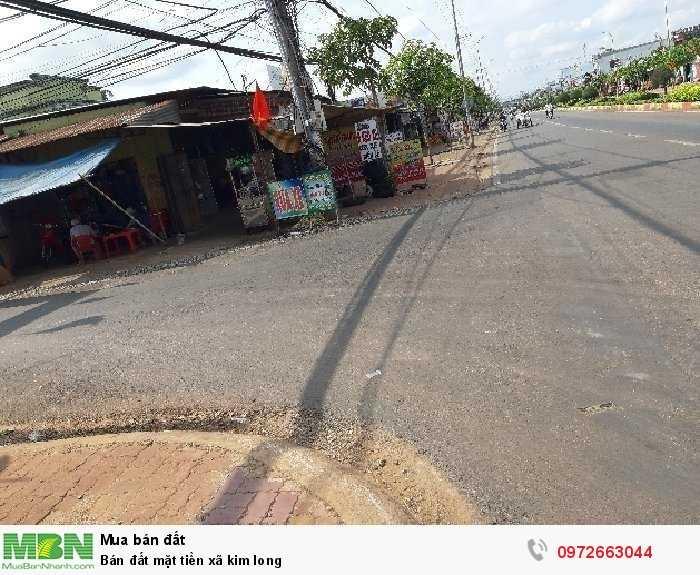 Bán đất mặt tiền xã kim long