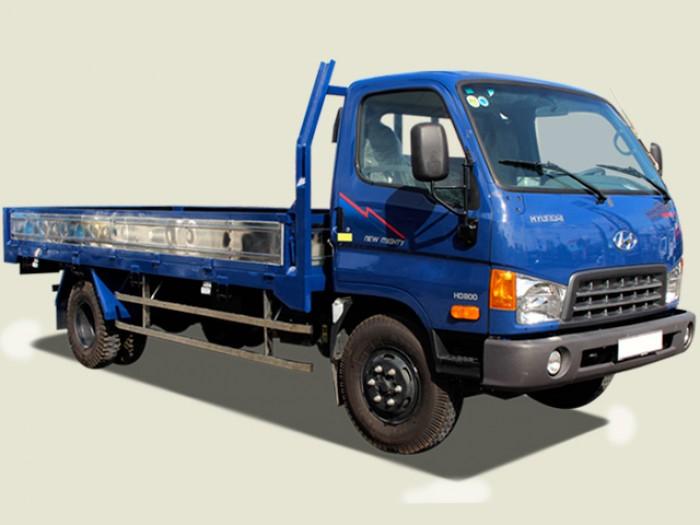 Xe tải Hyundai 8 tấn thùng lửng - HD800, thùng đài 5m, khuyến mãi lớn