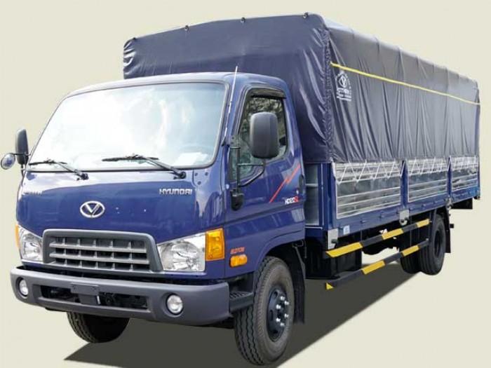 Xe tải Hyundai 8 tấn HD120SL thùng mui bạt, thùng 6m3