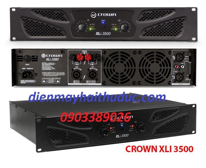 Cục đẩy Crown XLi -3500 có hệ thống làm mát rất tân tiến với hệ thống quạt gió làm mát lớn0