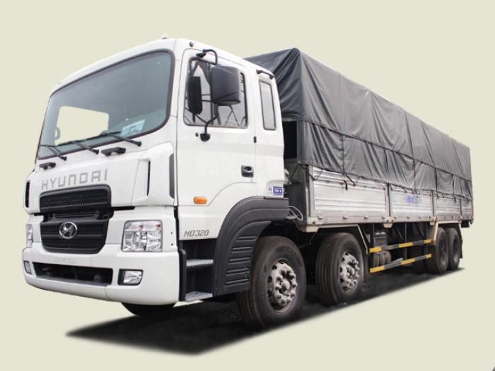 HD320 - Xe tải Hyundai 18 tấn 4 chân thùng bạt, thùng 9m7