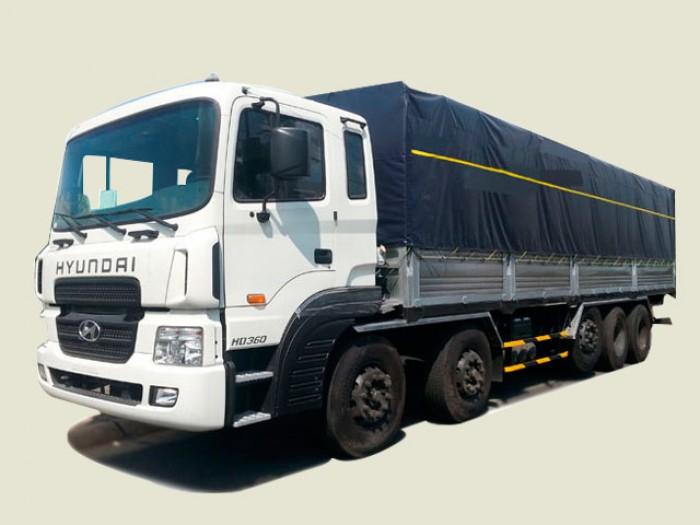 Xe tải Hyundai 5 chân 21T5 thùng mui bạt - HD360, thùng 9m7