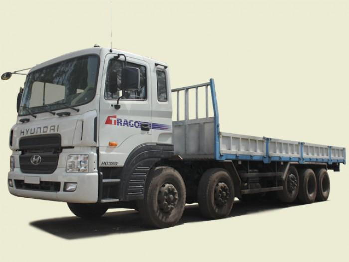 HD360- Xe tải Hyundai 5 chân 20 tấn thùng lửng, thùng 9m62
