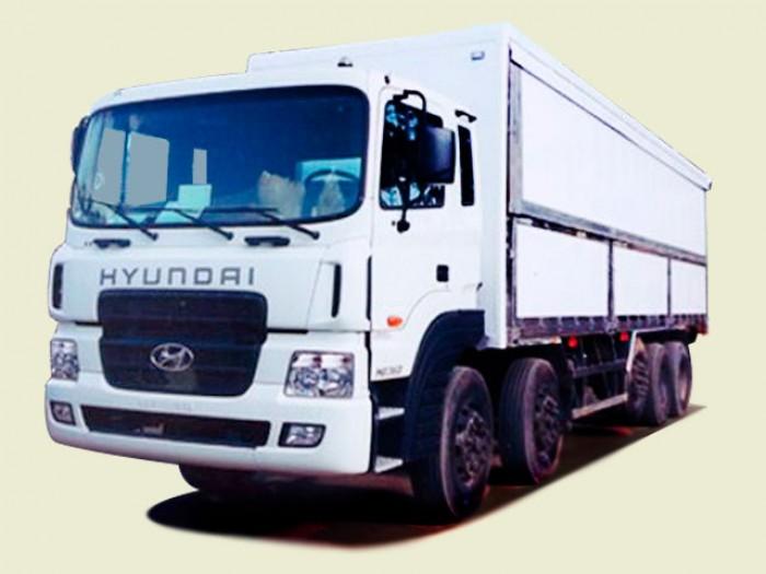 Xe tải Hyundai 5 chân 18T7 thùng kín cánh dơi - HD360, thùng 9m6