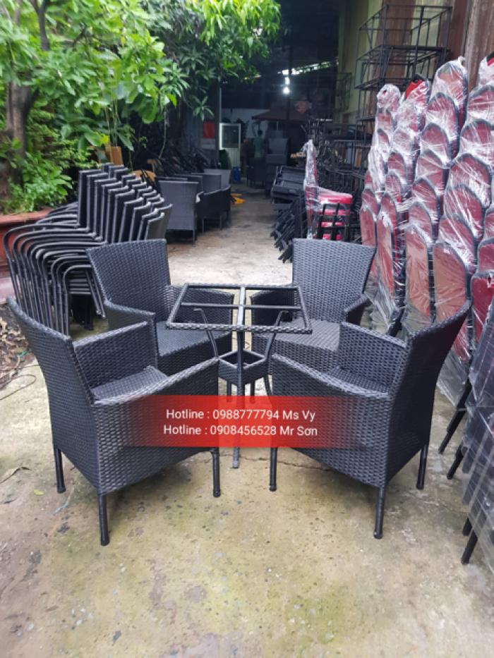 Bàn ghế mây cafe trực tiếp sản xuất21
