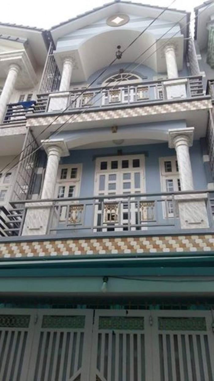 Bán nhà phố mini, 1 trệt 2 lầu, sát mặt tiền đường 6m