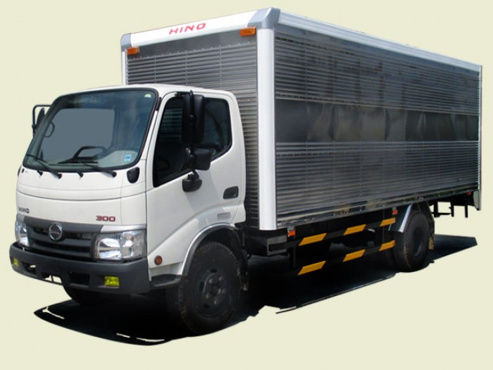 Xe tải Hino Dutro 4T5 thùng kín bửng nâng - XZU342L, thùng 5m