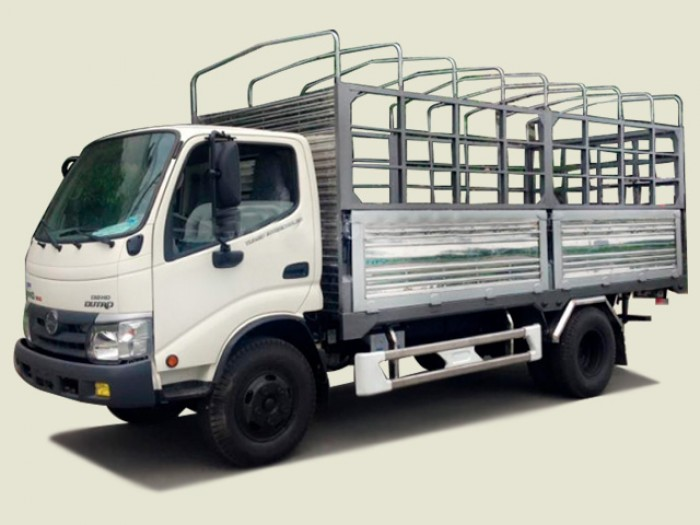 Xe tải Hino 3T49 thùng mui bạt - XZU342L, thùng 5m