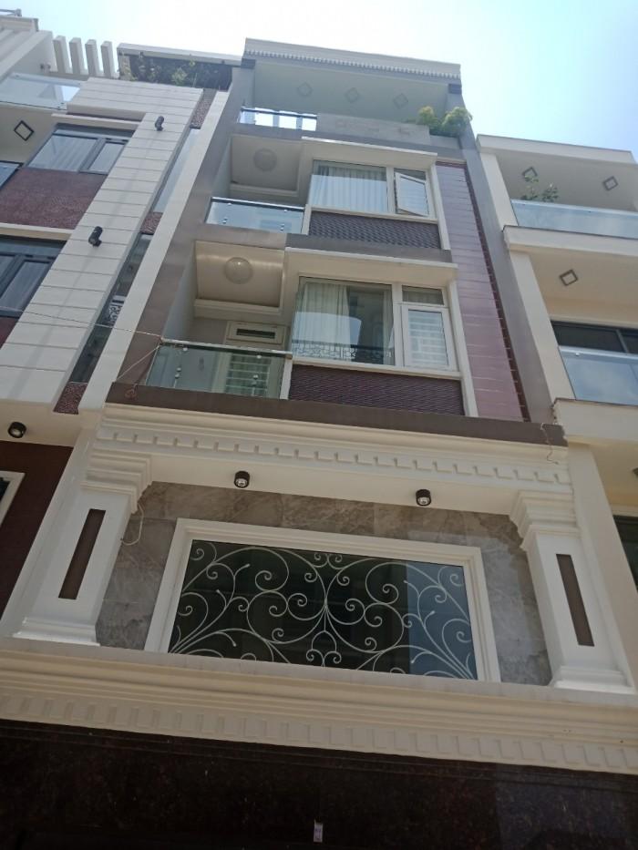 Nhà mới xây ĐẸP 100% 1trệt, 3lầu, DT 4x15m, đường Nơ Trang Long Q.BT.