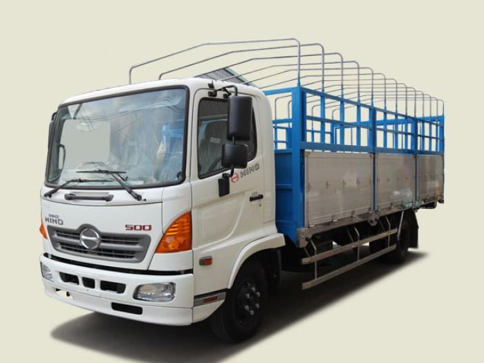 Xe tải Hino 5T6 thùng mui bạt - FC9JLTA, thùng 6m7 0
