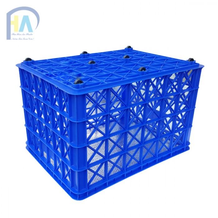 Thanh lí rổ nhựa 8 bánh xe Phú Hòa An0