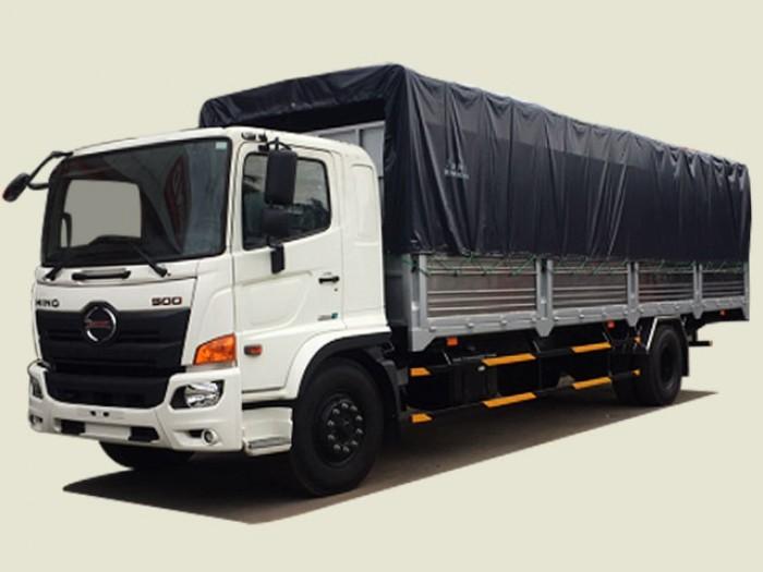 Xe tải Hino 8T2 thùng bạt - FG8JP7A, thùng 7m2 0