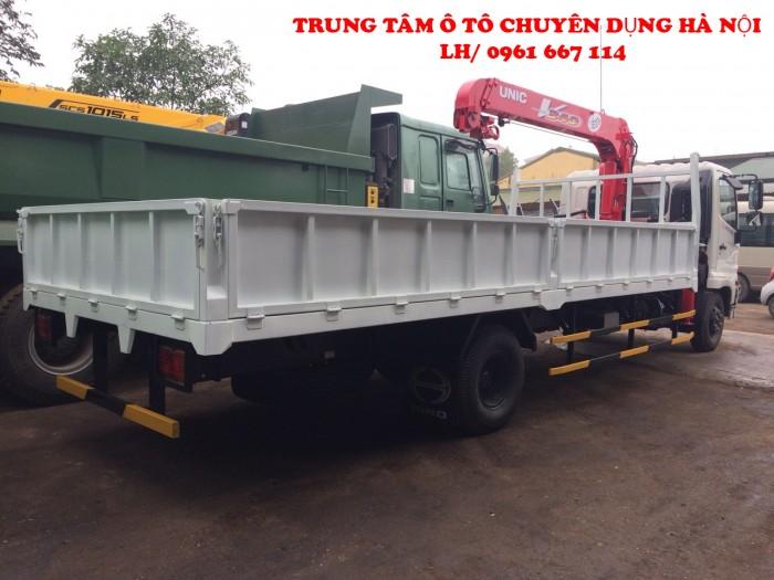 Xe tải 7 tấn HINO FC9JLSW gắn cẩu 3 tấn 6 đốt UNIC model URV346 thùng dài 6m   Hỗ trợ trả góp khi mua xe 3
