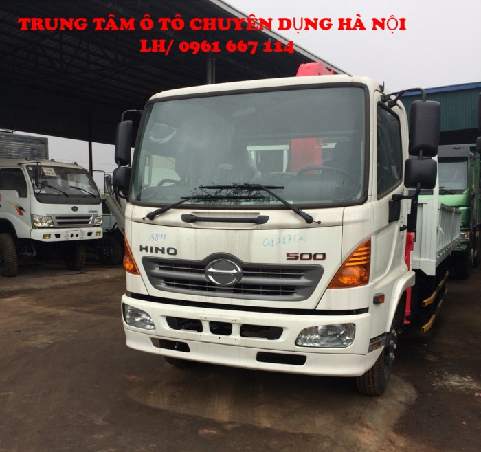 Xe tải 7 tấn HINO FC9JLSW gắn cẩu 3 tấn 6 đốt UNIC model URV346 thùng dài 6m | Hỗ trợ trả góp khi mua xe