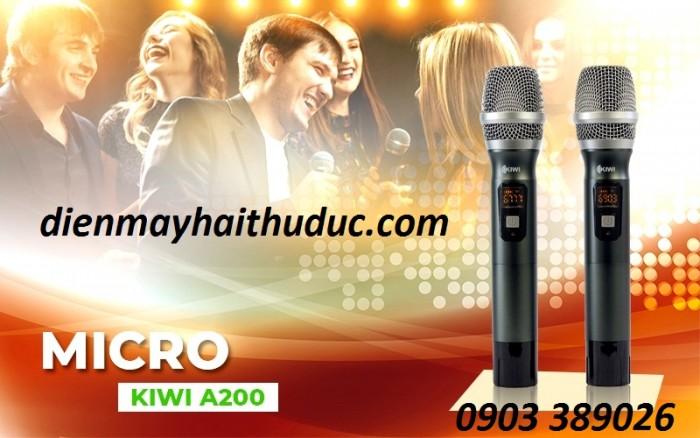 Micro không dây Kiwi-A200 xử lý mức độ cực cao, cực hút, giảm tiếng ồn, hoàn hảo cho việc hát karaoke4