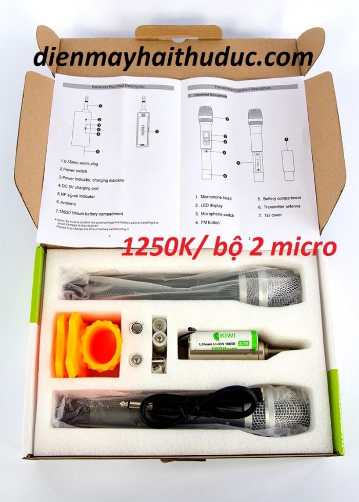 Điện Máy Hải là đại lý chính thức của Kiwi nên Micro Kiwi-A200 này được Cửa hàng bán ra giảm đến 15% có giá rẻ nhất trên thị trường hiện nay:  1260K/ trọn bộ 2 micro0