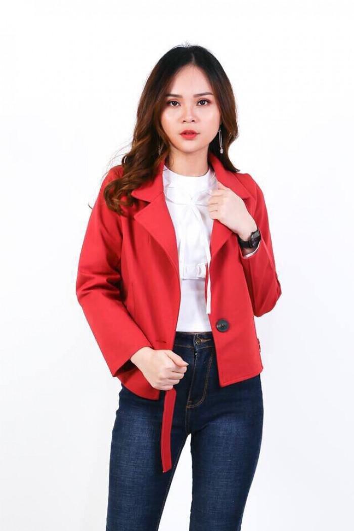 [2] Áo khoác cổ vest 1 nút