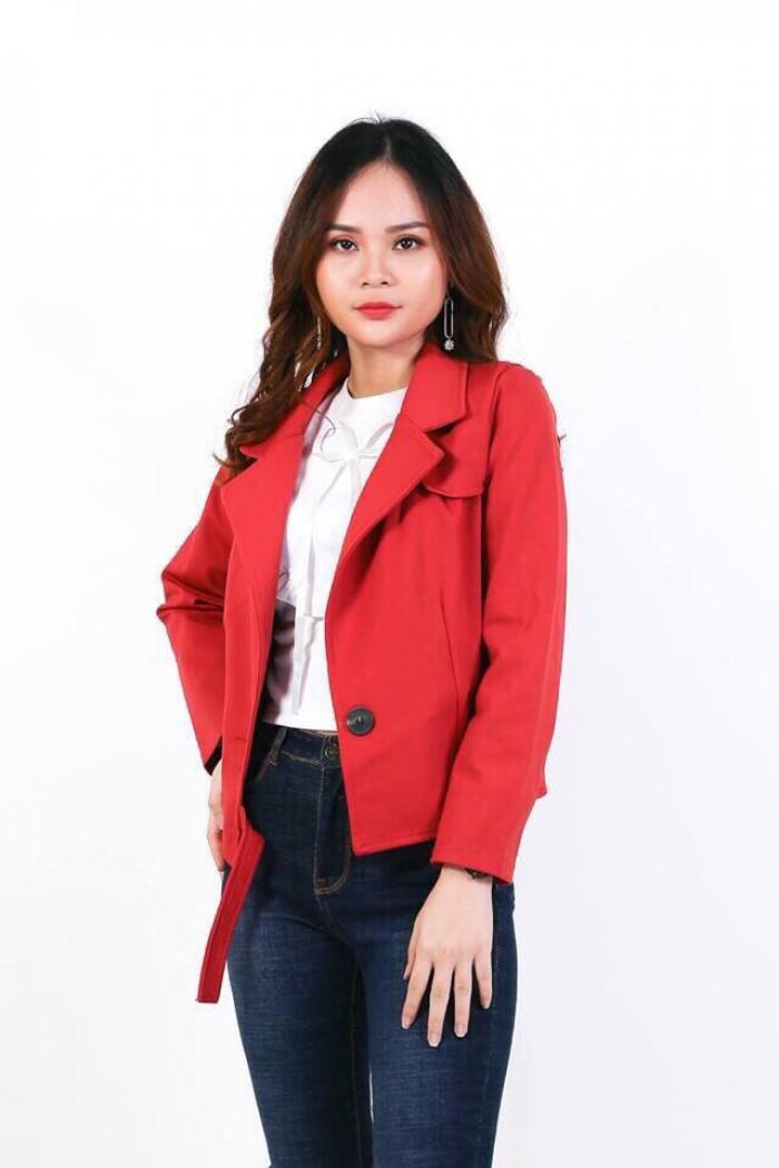[1] Áo khoác cổ vest 1 nút