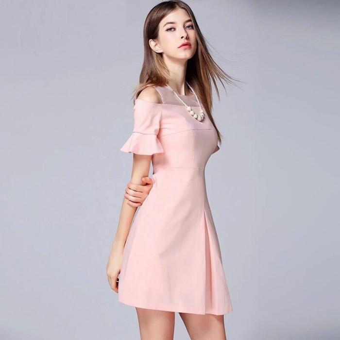 [2] Đầm xòe tay rớt