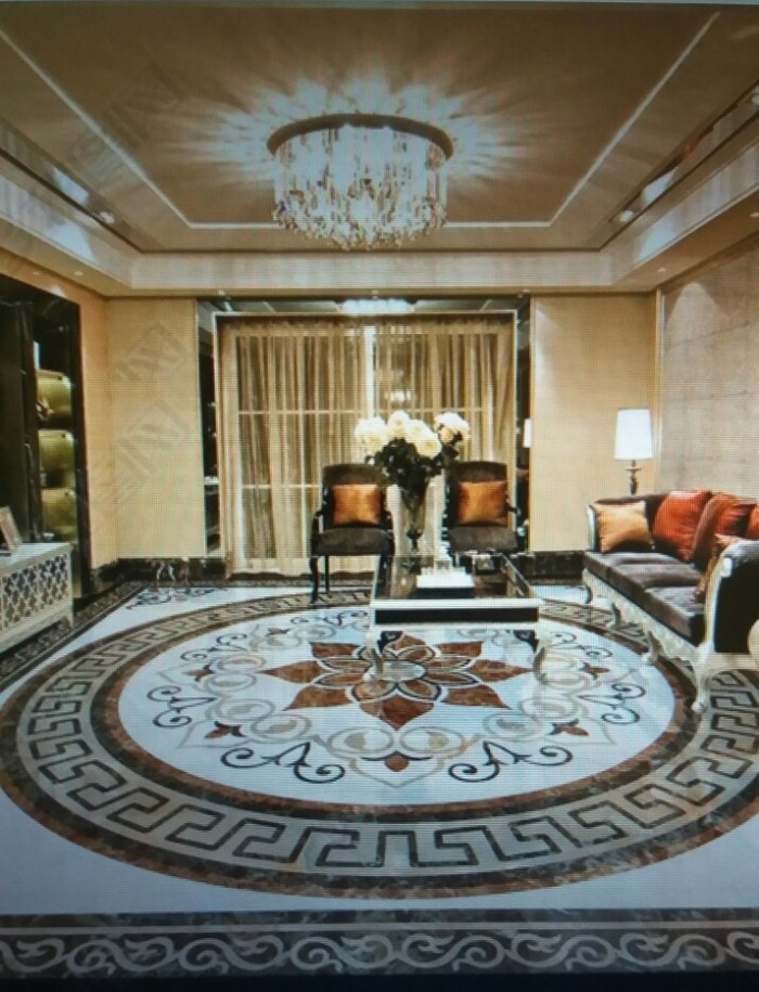 Gạch thảm trang trí phòng khách TL0951