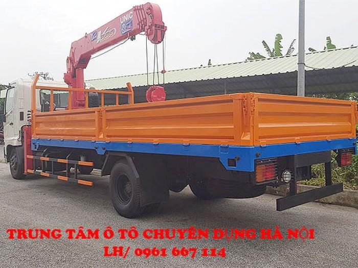 HINO FC9JLSW gắn cẩu 5 tán 4 đốt UNIC model URV554 thùng dài 6m | Khuyến mại 2% thuế trước bạ
