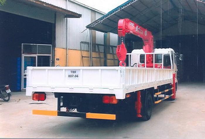 HINO FC9JLSW gắn cẩu 5 tấn 5 khúc UNIC model URV555 thùng dài 6m | Hỗ trợ trả góp 80% giá trị xe