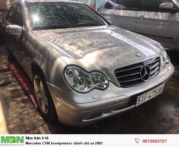 Mercedes-Benz C180 sản xuất năm 2003 Số tự động Động cơ Xăng