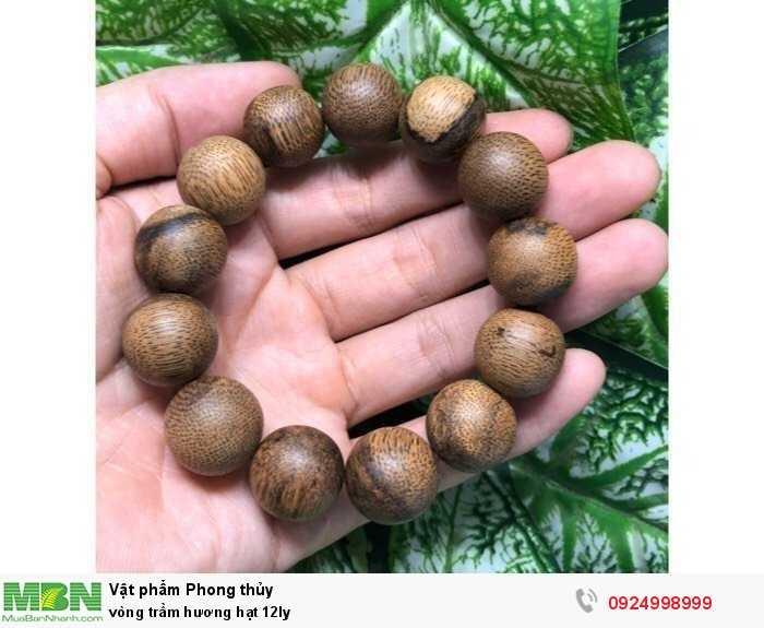 Vòng trầm hương hạt 12ly4