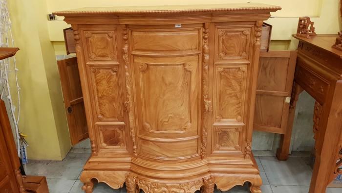 Tủ thờ trơn bụng phệ gỗ gõ đỏ4