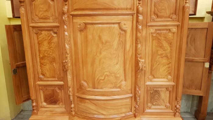 Tủ thờ trơn bụng phệ gỗ gõ đỏ3