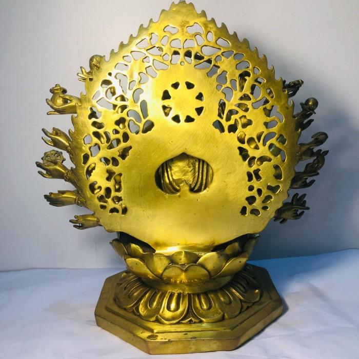 Tượng Phật bà chuẩn đề cao 25cm bằng đồng nguyên chất3