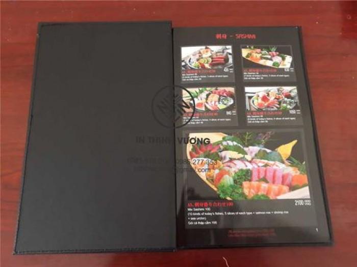 In quyển menu, in quyển thực đơn, in các loại menu tại Hà Nội