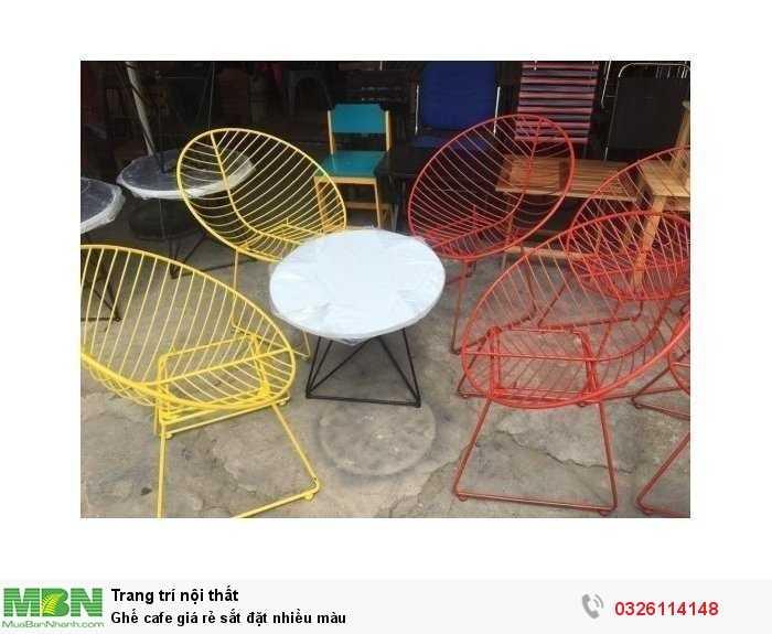 Ghế cafe giá rẻ sắt đặt nhiều màu0