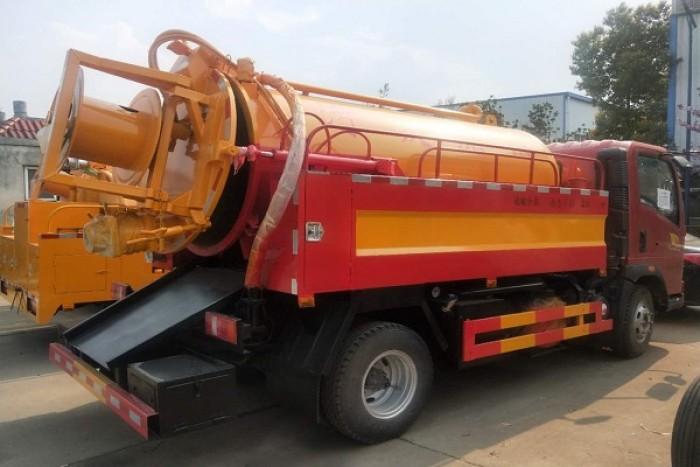 Xe hút bùn thông cống Dongfeng 6 khối