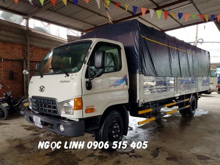 Xe tải 120sl thùng mui bạt 8 tấn thùng dài 6m3 giao xe ngay 3