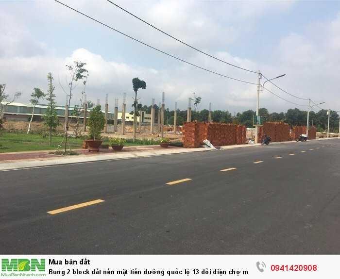 Bung 2 block đất nền mặt tiền đường quốc lộ 13 đối diện chợ mới huyện bàu bàng tỉnh Bình Dương