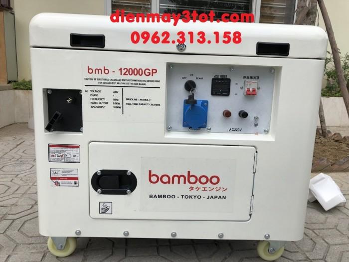 Máy phát điện 10kw chạy xăng chống ồn siêu tốt Bamboo 12000GP tiêu chuẩn Nhật Bản1