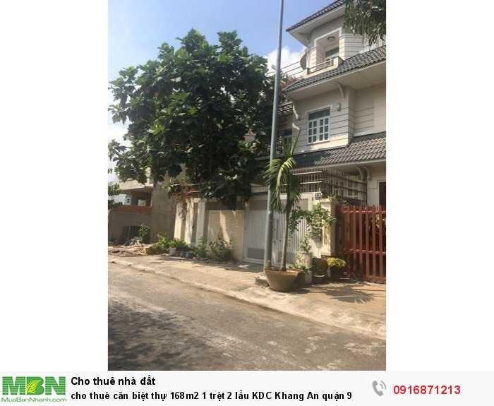 cho thuê căn biệt thự 168m2 1 trệt 2 lầu KDC Khang An quận 9