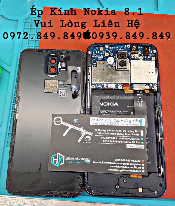 Ép Kính Nokia 8.1 Uy Tín Chất Lượng Số 1 Vũng Tàu