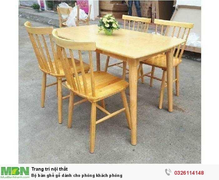 Bộ bàn ghế gỗ dành cho phòng khách phòng0